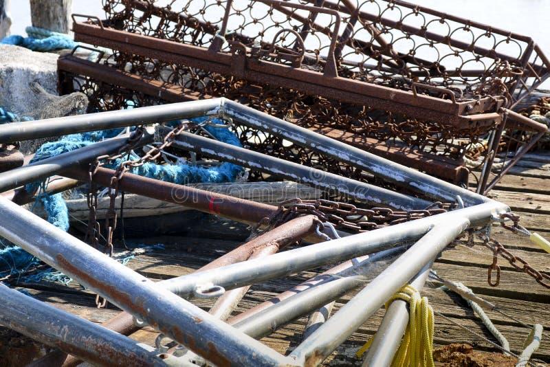 Mucchio di vecchi rifiuti del metallo fotografie stock