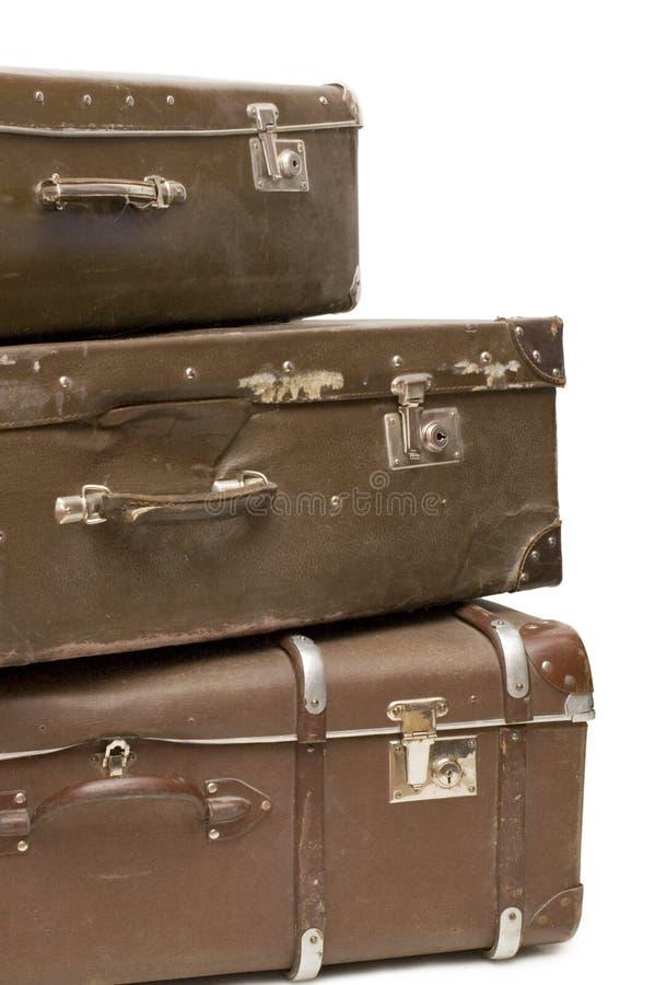 Mucchio di vecchie valigie