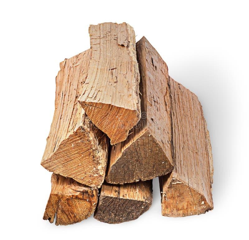 Mucchio di vista della legna da ardere avanti immagine stock