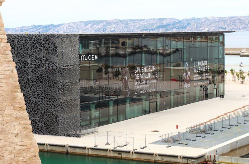 MuCEM, französisches Nationalmuseum von Marseille stockbilder