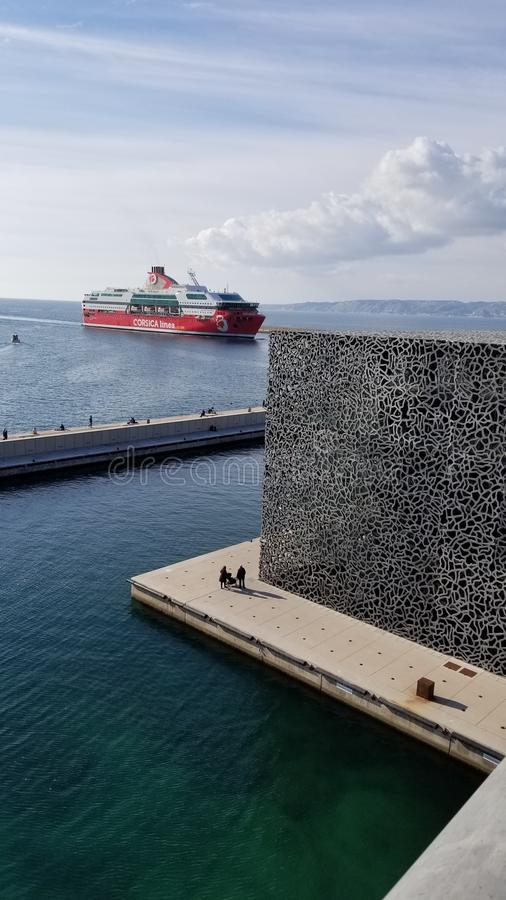 Mucem museum. In Marseille France stock photography
