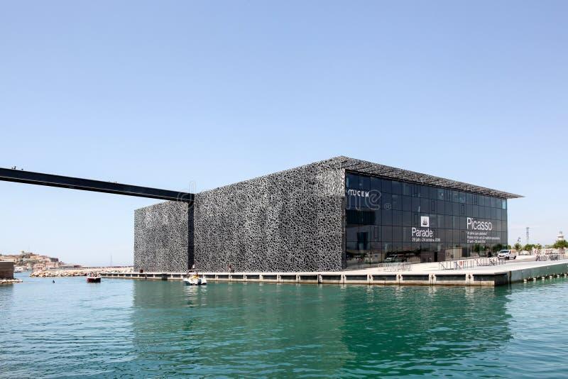 Mucemmuseum in Marseille, Frankrijk stock foto