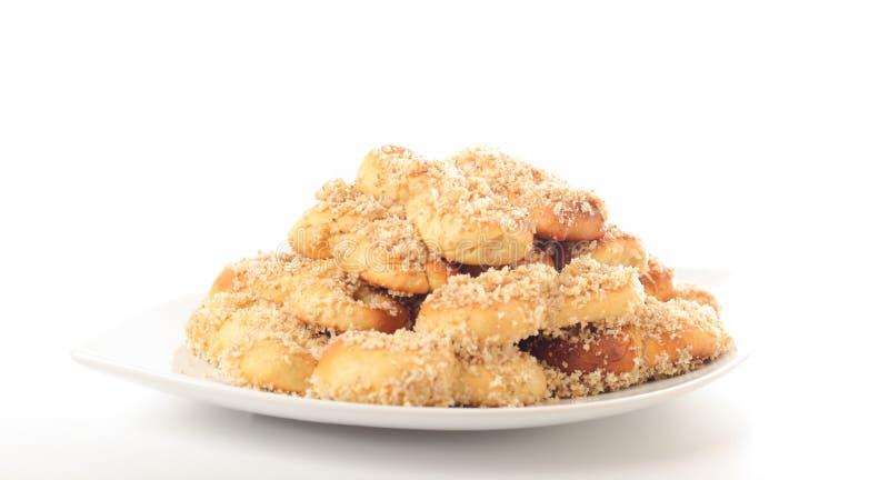 Mucenici, biscuits huit-formés photographie stock
