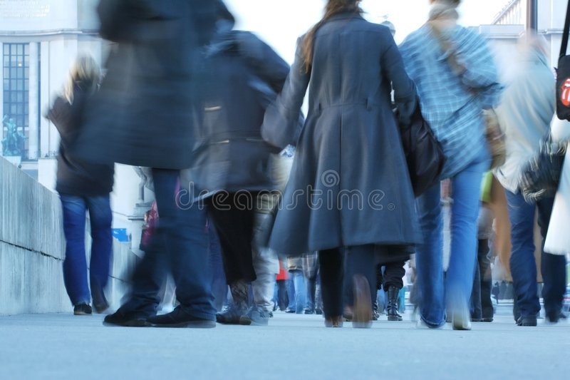 Much of anybody walking on the street stock photography