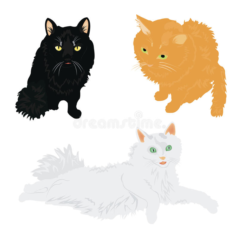 Download Much Cats Of The Miscellaneous Of The Colour Stock Illustration - Image: 21143258