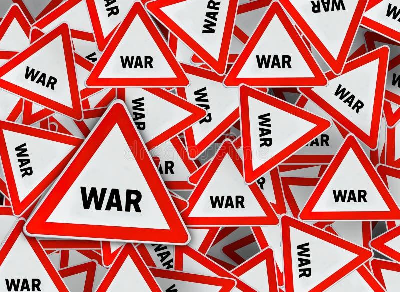 Mucha señal de tráfico del triángulo de la guerra libre illustration