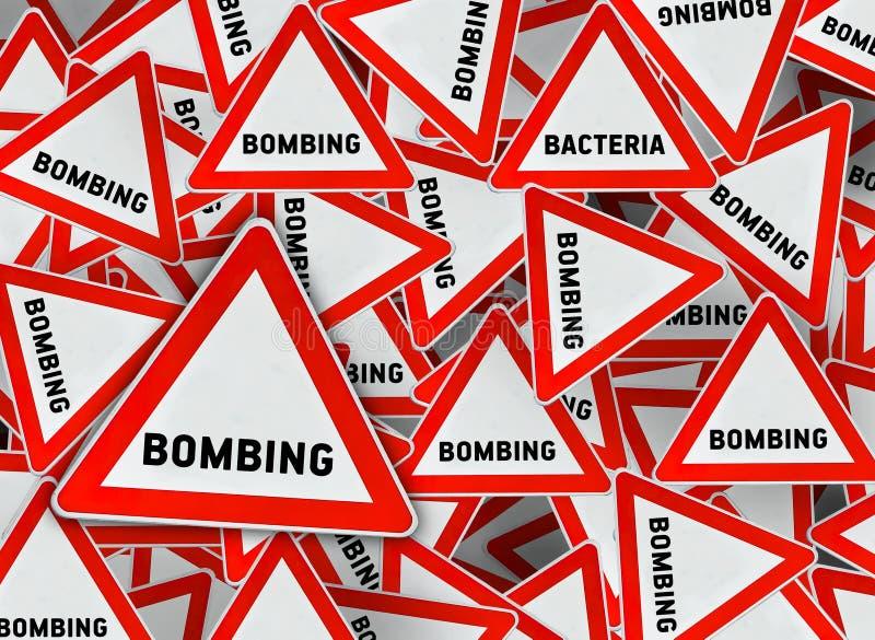 Mucha señal de tráfico del triángulo del bombardeo libre illustration