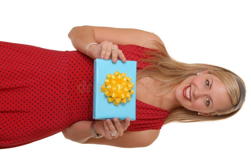Muchacha 201 del regalo foto de archivo libre de regalías