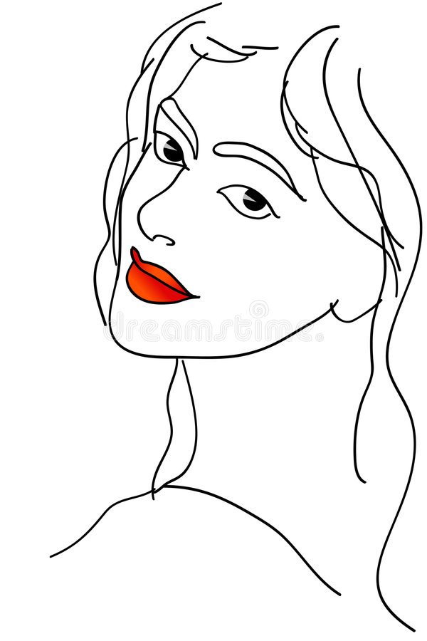 muchacha stock de ilustración