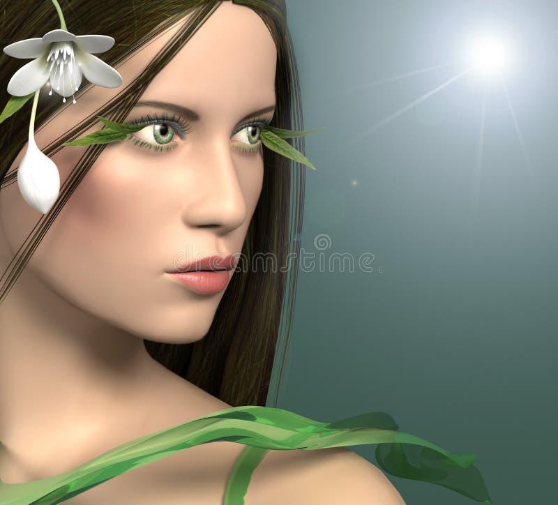 muchacha 3d stock de ilustración
