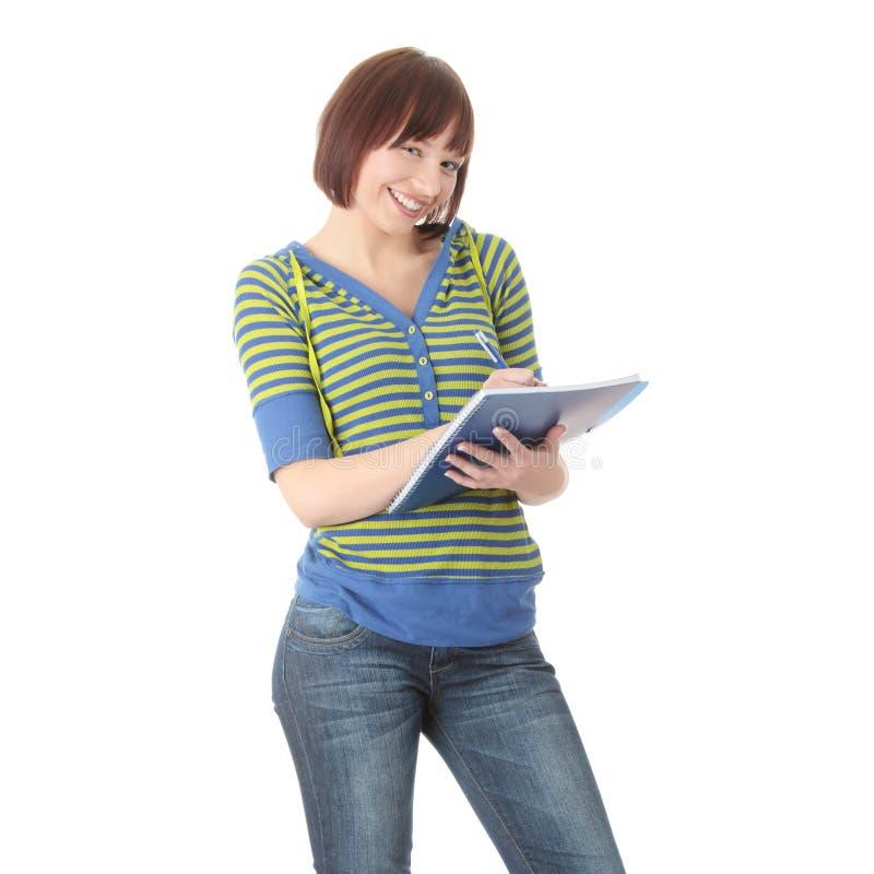 Muchacha adolescente del estudiante imagenes de archivo