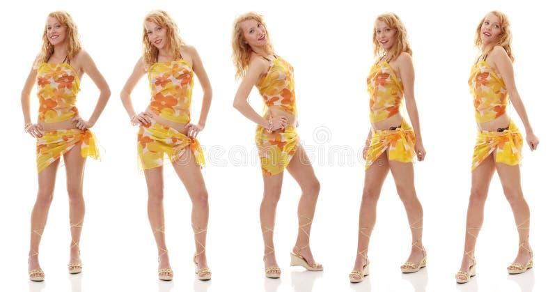 Muchacha adolescente del verano imagen de archivo