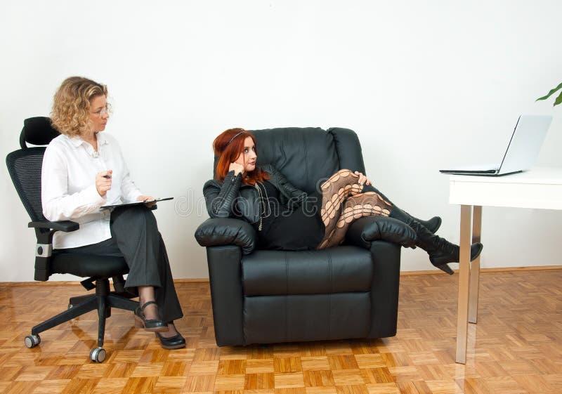 Muchacha adolescente en terapia imagen de archivo