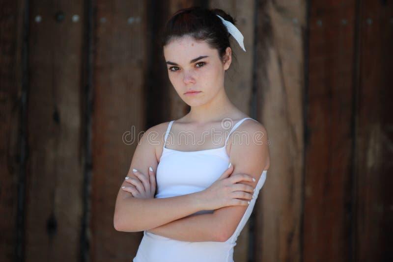 Muchacha adolescente infeliz fotografía de archivo