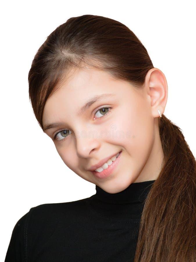 Muchacha adolescente sonriente imagenes de archivo