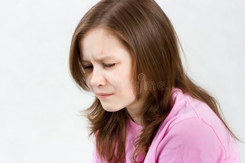Muchacha adolescente trastornada fotografía de archivo libre de regalías