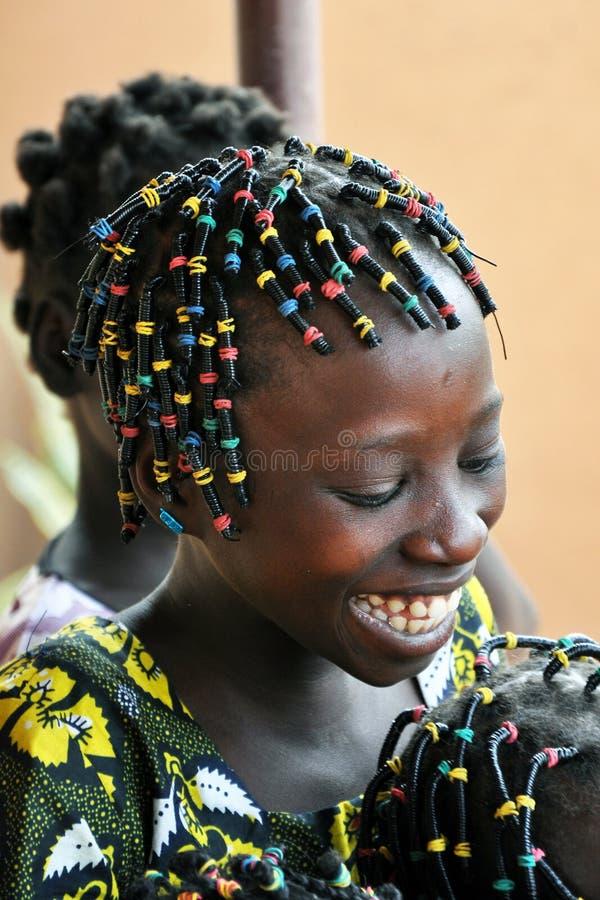 Muchacha africana feliz imágenes de archivo libres de regalías