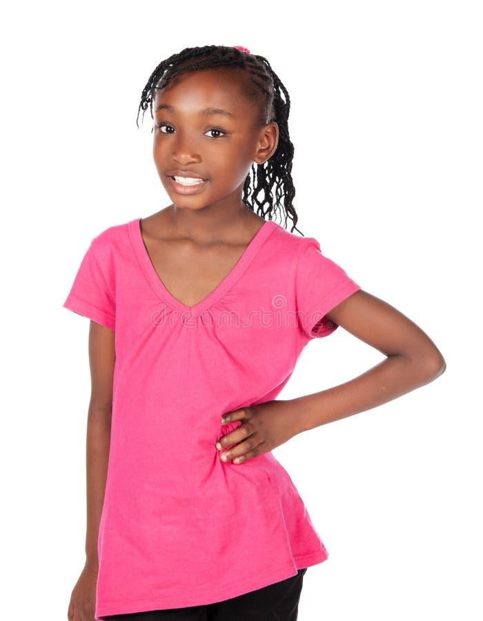 Muchacha africana linda imagen de archivo