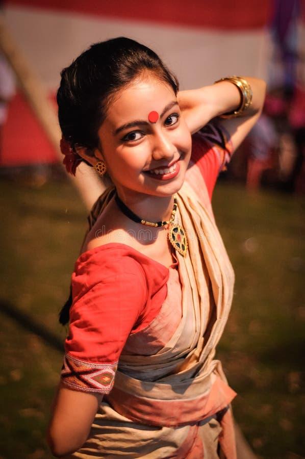 Muchacha agradable en Assam fotos de archivo libres de regalías