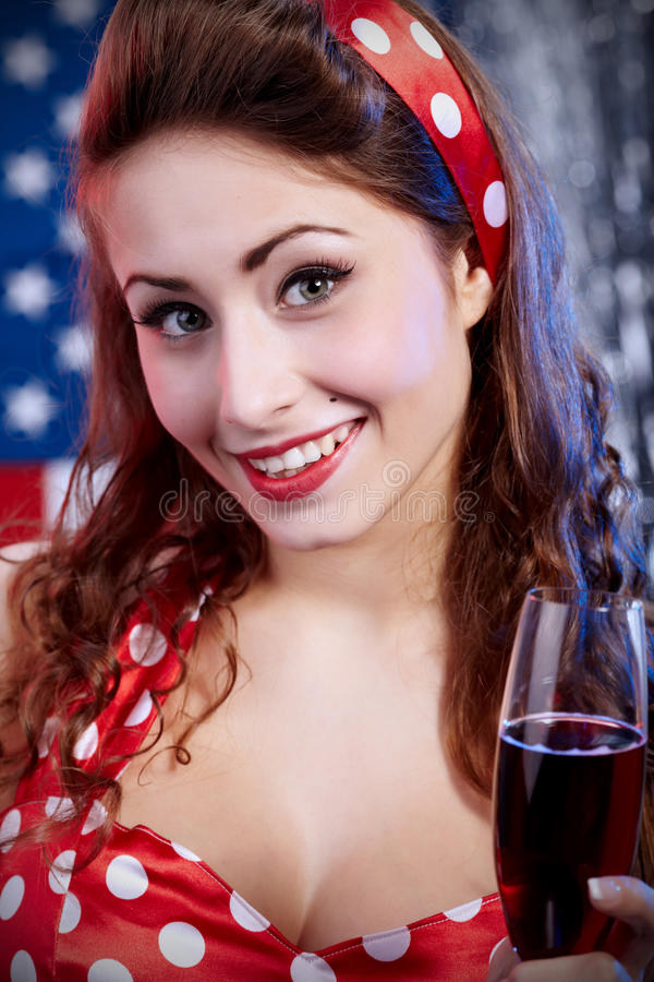 Muchacha americana atractiva imagen de archivo libre de regalías