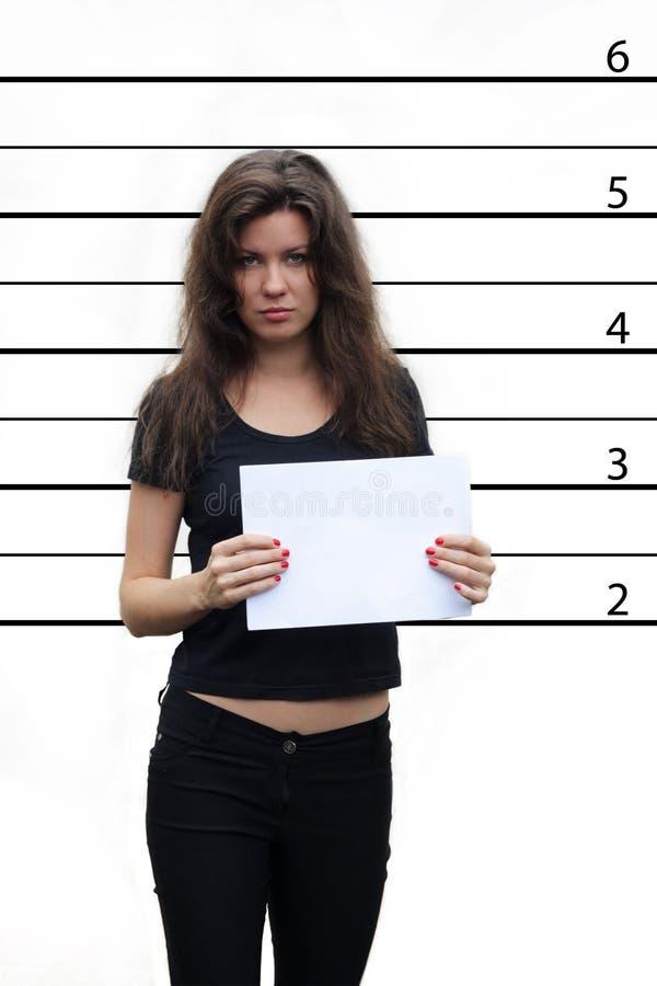 Muchacha arrestada fotos de archivo