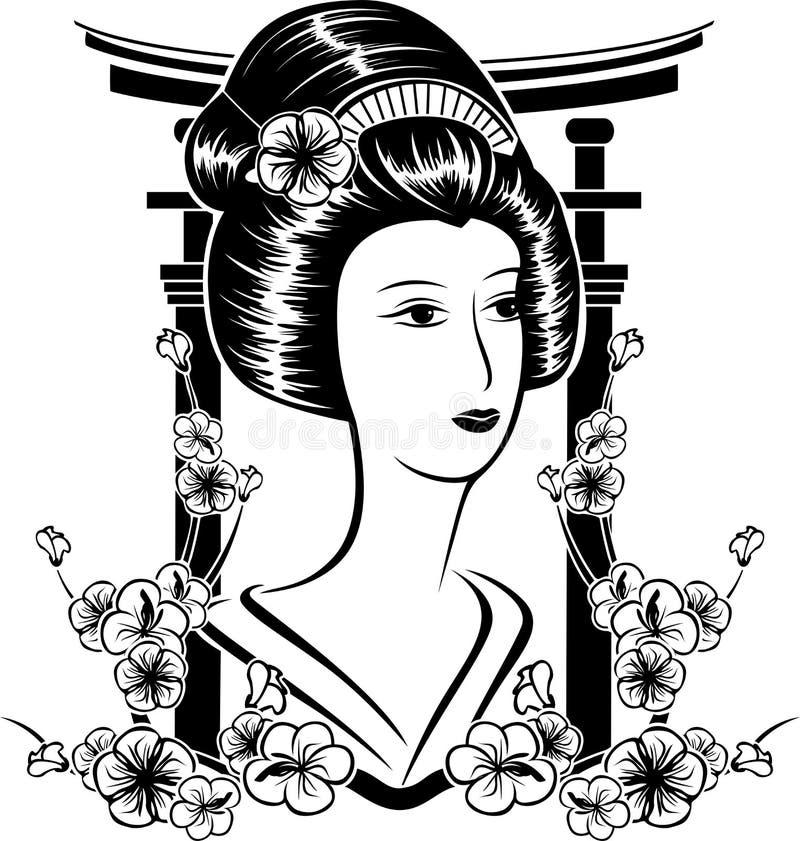 Muchacha asiática ilustración del vector