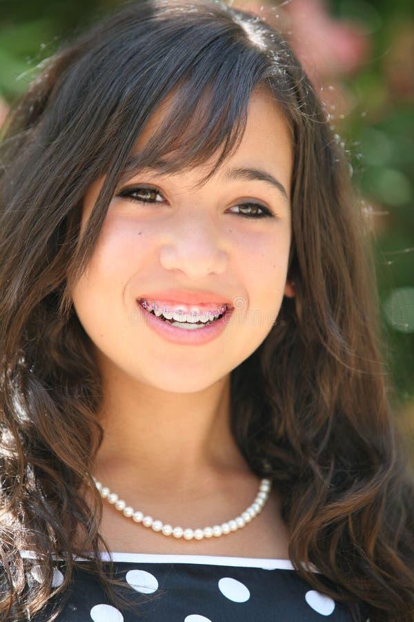 Muchacha asiática feliz foto de archivo