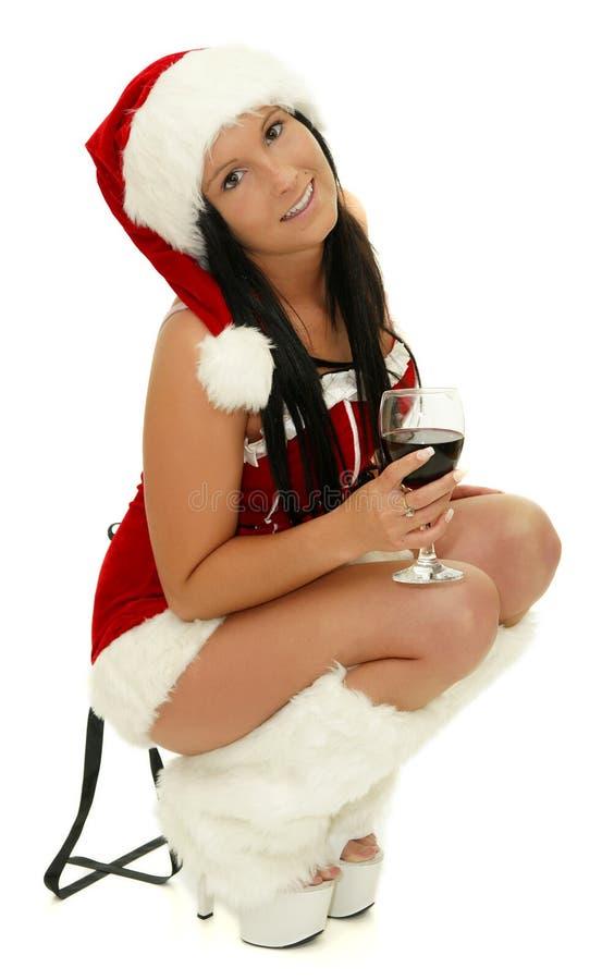 Muchacha atractiva de la fiesta de Navidad foto de archivo libre de regalías