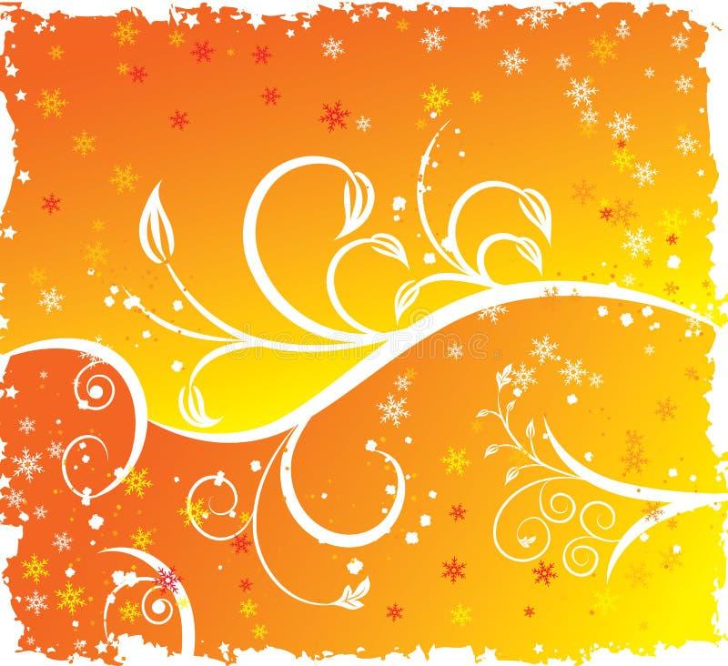 Muchacha atractiva de la silueta floral, ilustración del vector ilustración del vector