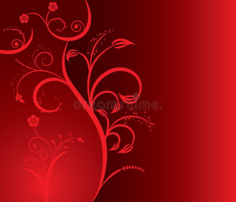 Muchacha atractiva de la silueta floral, vector ilustración del vector