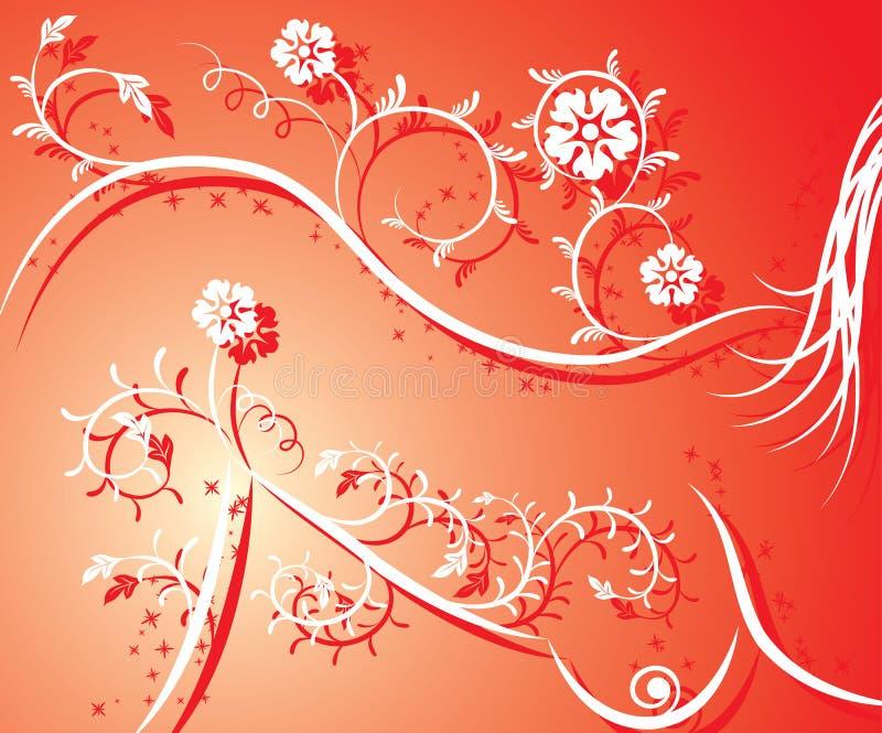 Muchacha atractiva de la silueta floral, vector stock de ilustración