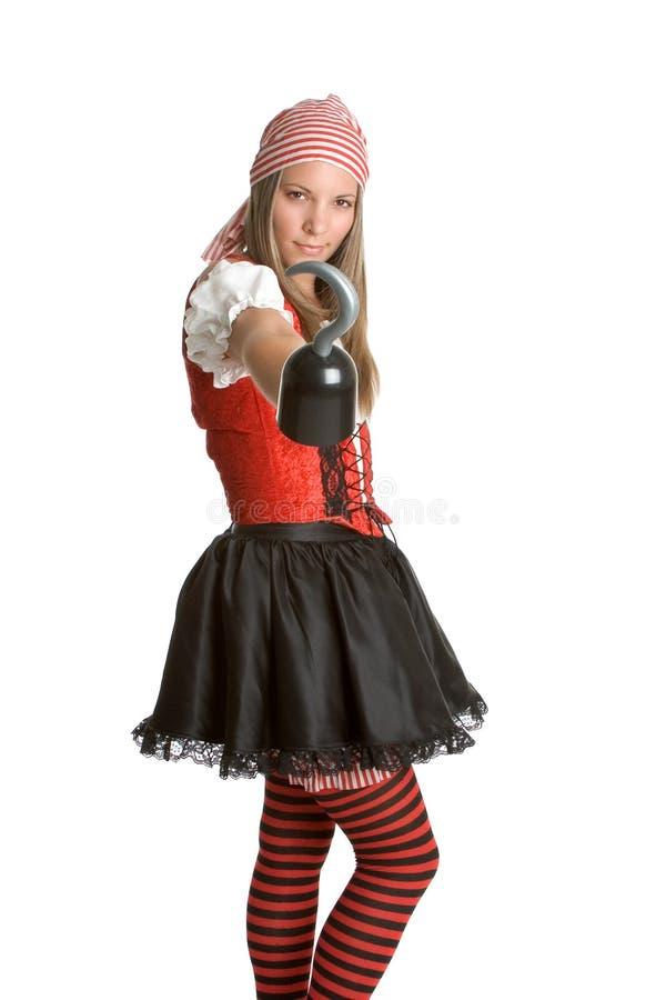 Muchacha atractiva del pirata fotografía de archivo libre de regalías