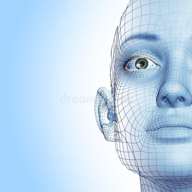 Muchacha azul hermosa ilustración del vector