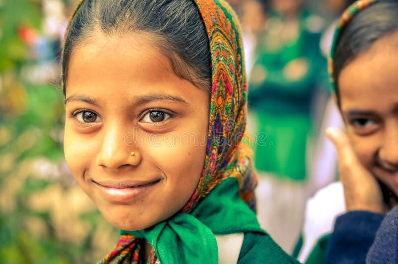 Muchacha bonita en Bihar imagen de archivo