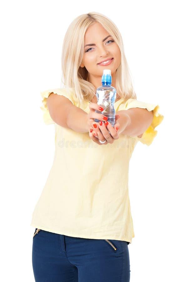 Muchacha con agua imagen de archivo