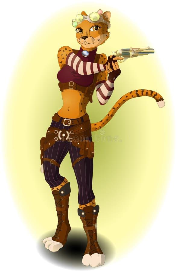 Muchacha con el arma libre illustration