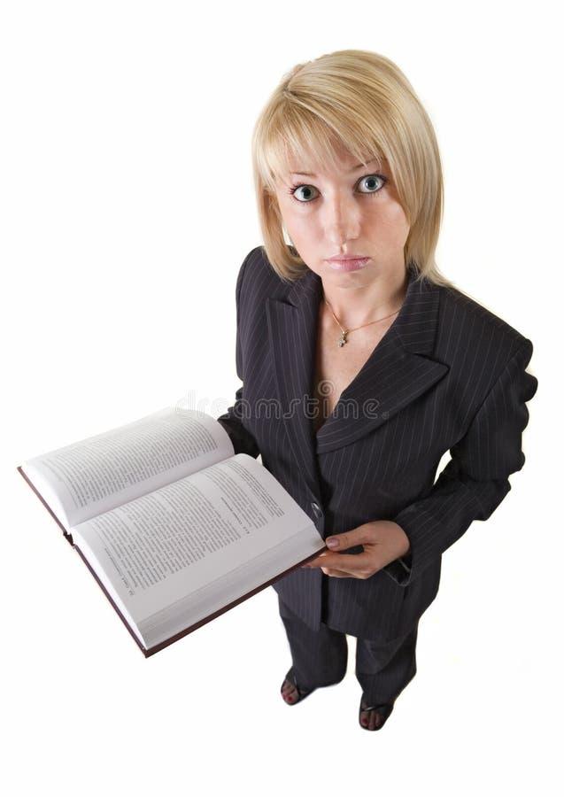 Muchacha con el libro fotografía de archivo libre de regalías