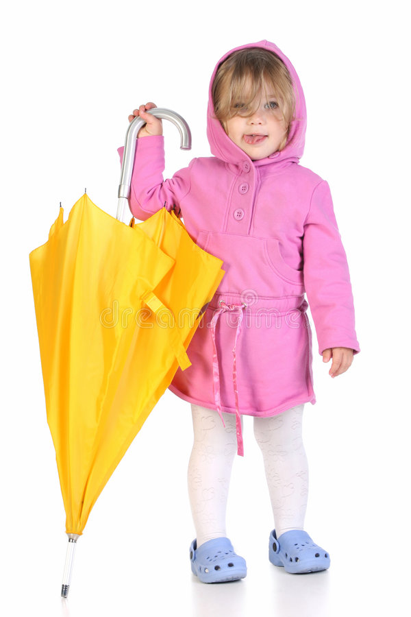 Muchacha con el paraguas imagen de archivo libre de regalías
