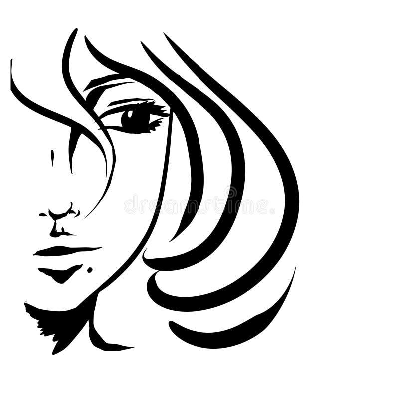 Muchacha con el pelo corto libre illustration