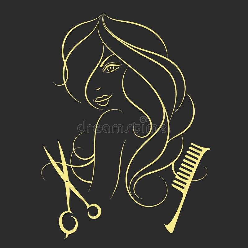 Muchacha con el pelo largo libre illustration