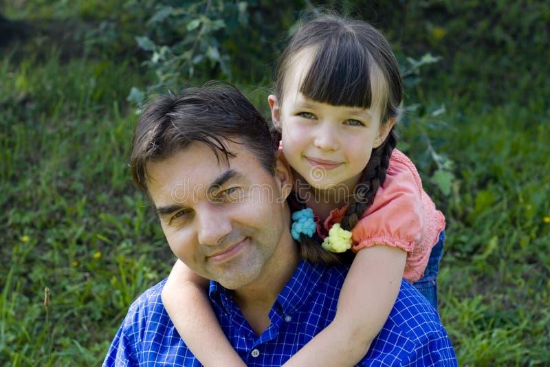 Muchacha con el tío fotos de archivo libres de regalías