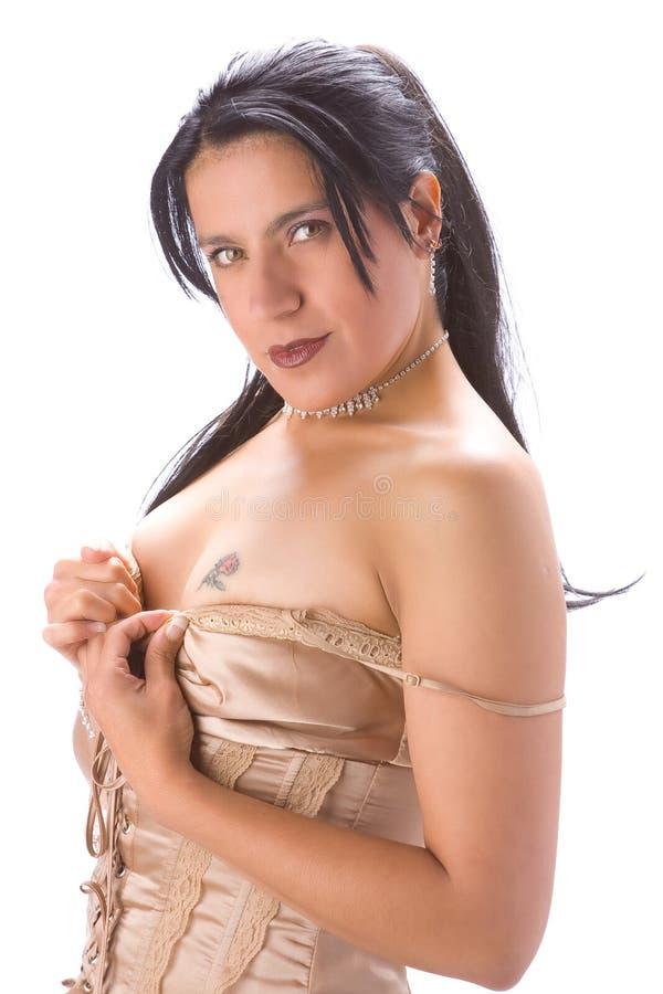 Muchacha con el tatuaje imagenes de archivo