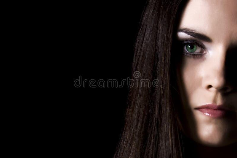 Muchacha con los ojos verdes imágenes de archivo libres de regalías