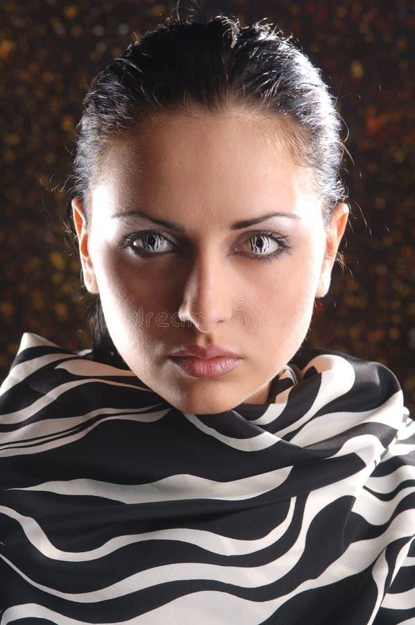 Muchacha con maquillaje foto de archivo