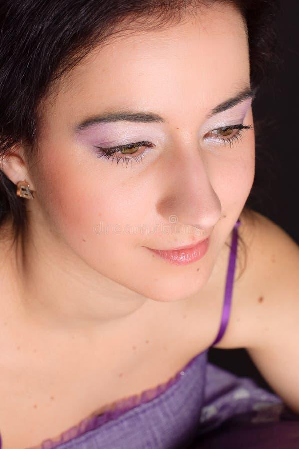 Muchacha con maquillaje elegante fotos de archivo