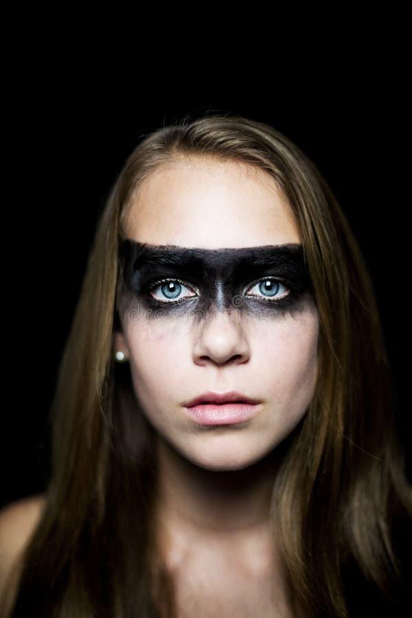 Muchacha con maquillaje pesado fotos de archivo libres de regalías