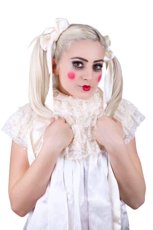 Muchacha con maquillaje del carro fotografía de archivo libre de regalías
