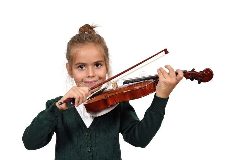 Muchacha con un violín foto de archivo libre de regalías