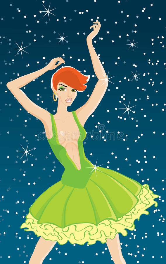 Muchacha de baile libre illustration