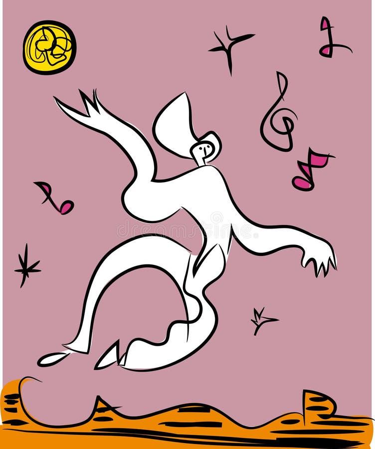 Muchacha de baile del disco ilustración del vector